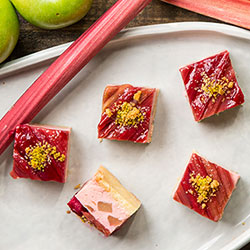 Apple and rhubarb slice thumbnail