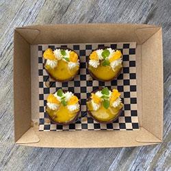 Mandarin creme fraiche tart thumbnail