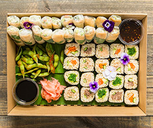 Sushi train platter - Serves 10 guests thumbnail