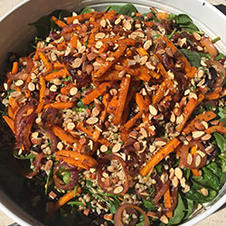 Spiced roast pumpkin salad thumbnail