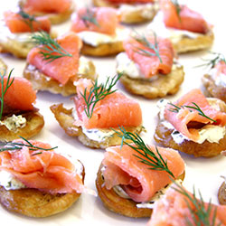 Smoked salmon blini thumbnail