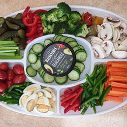 Veggie dip platter thumbnail