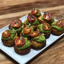 Corn, red peppers and zucchini fritter thumbnail