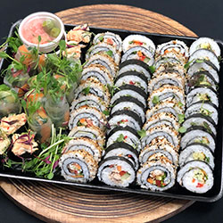 Sushi and rice paper roll platter thumbnail