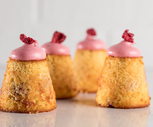 Raspberry and pear teacakes thumbnail