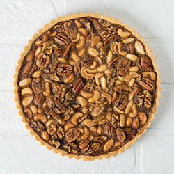 Nutty toffee tart thumbnail
