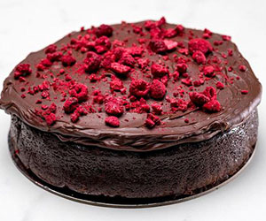 Raspberry chocolate mudcake thumbnail