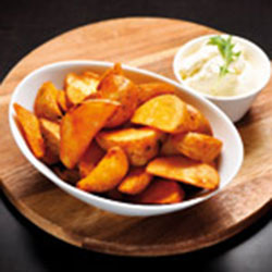 Seasoned wedges and sour cream thumbnail