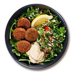 Middle Eastern falafel salad bowl thumbnail