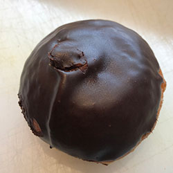 Nutella chocolate iced doughnut  thumbnail