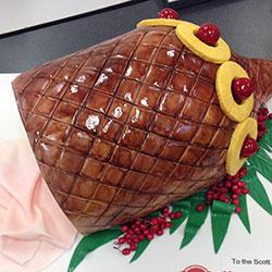 Glazed ham Christmas cake thumbnail