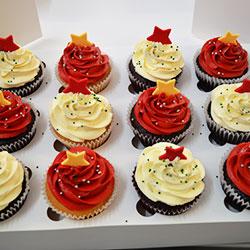 Christmas tree cupcakes thumbnail
