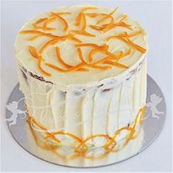 Orange poppy cake - 6 inch thumbnail