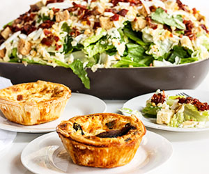 Quiches and salad lunch package thumbnail