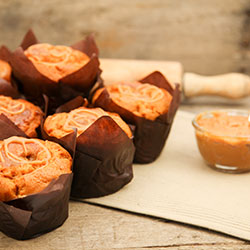 Caramel and butterscotch gourmet muffin - box of 6 thumbnail