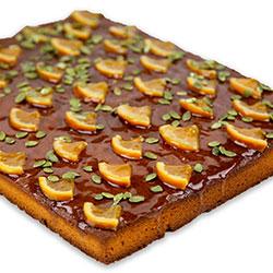 Flourless orange and almond - slab cake thumbnail