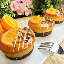 Flourless orange jaffa cake - 3 inch - box of 6 thumbnail