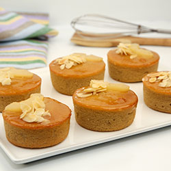 Flourless pear cake - 3 inch - box of 6 thumbnail