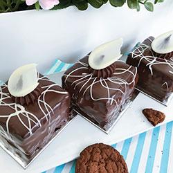 Chocolate ripple mud cake - 3 inch - box of 6 thumbnail