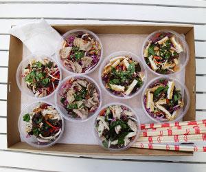 Individual bun salad box thumbnail
