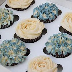 Vintage Blue cupcake gift box thumbnail