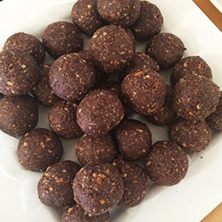 Chocolate and peanut butter bliss ball - small thumbnail