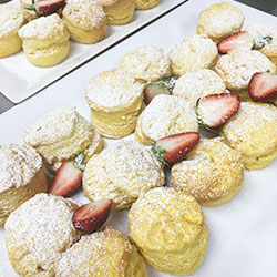 Fluffy baked buttermilk scones thumbnail