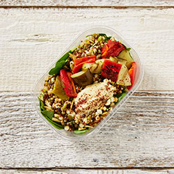 Grilled zucchini, grain and seed salad thumbnail