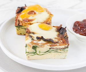 Breakfast frittata piece thumbnail
