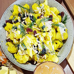 Yellow cauliflower salad thumbnail