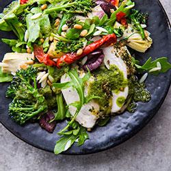 Roast chicken herb salad thumbnail