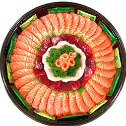 Rainbow sashimi platter thumbnail