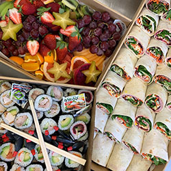 Wrap, sushi and fruit platter package thumbnail