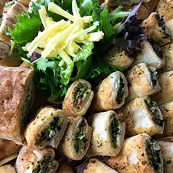 Spinach and ricotta rolls - large thumbnail