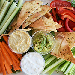 Dips and crudites platter thumbnail
