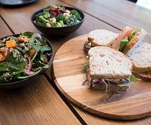 Assorted sandwich and fresh salad thumbnail