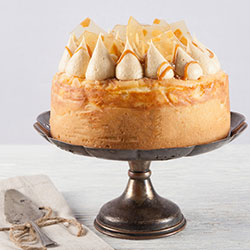 Caramel and macadamia cheesecake thumbnail