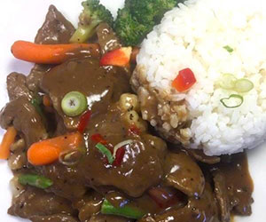 Beef with pepper sauce lunch box thumbnail