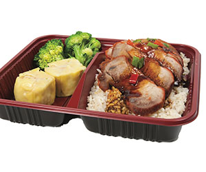 Chinese BBQ pork bento box thumbnail