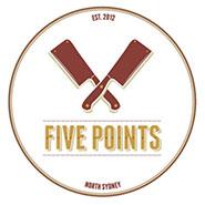 Five Points Burgers logo