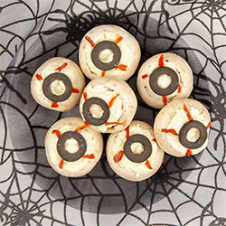 Stuffed mushroom eyeballs thumbnail