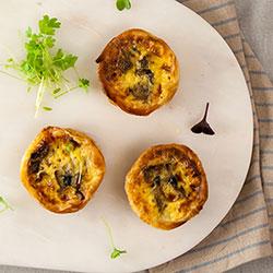 Mushroom, garlic and thyme tart thumbnail