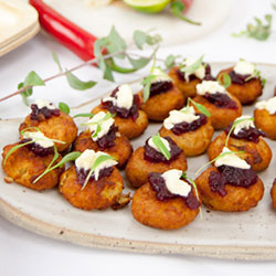 Chickpea and sweet potato fritter thumbnail
