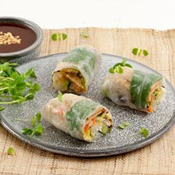Vegetarian rice paper roll thumbnail