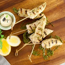 Chimichurri chicken skewer thumbnail