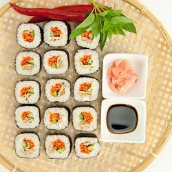 Tofu and vegetable nori roll thumbnail