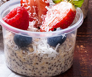 Chia and coconut pudding thumbnail