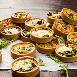 Vegetarian quiches thumbnail