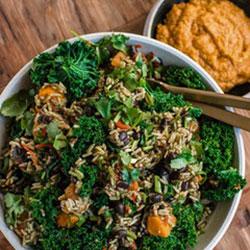 Vegan green rice salad thumbnail