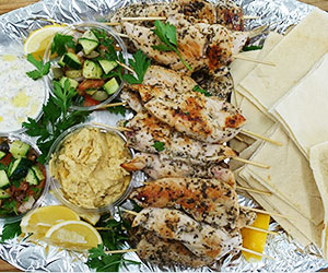Chicken skewer platter - serves 10 to 12 thumbnail